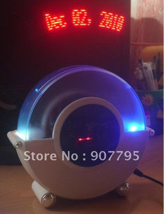 magic LED message clock floating message alarm clock magic led clock displays time date and Zeon