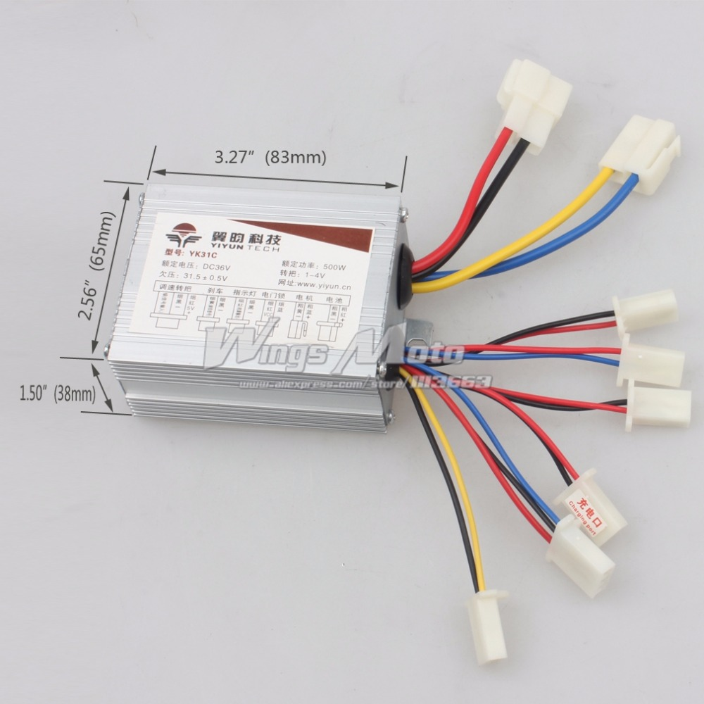 36v 500w Motor Speed Controller Electrical Scooter E Bike Bicycle ...