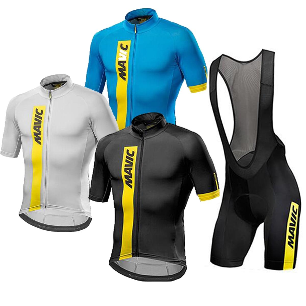2017 Team Mavic Summer Short Sleeve Cycling Jersey Clothing Bike Clothes Set Ropa Ciclismo martin lemon mens top sleeve cycling jersey bike shirt cycling clothing ilpaladin