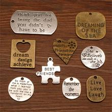 3 Piece Best Friends Pendant Charms For Jewelry Making Diy Craft Supplies Encourage Text Tag Women Sellers