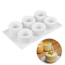 3D Silicone Cake Mold 6 Holes Small Round Mousse Muffin Pudding Cupcake Dessert Cakes Decorating Tools