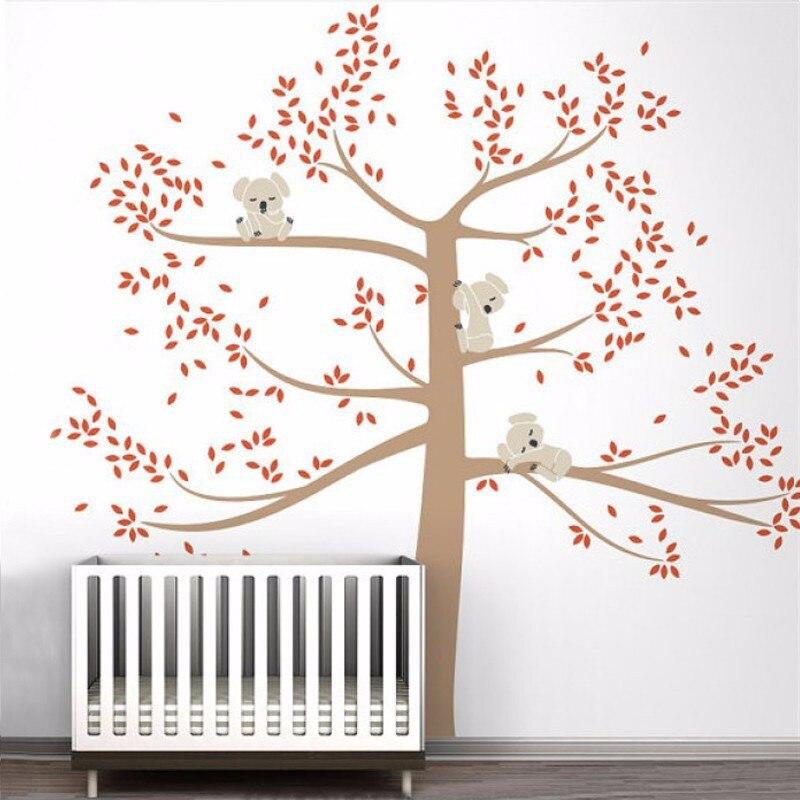 Виниловые настенные наклейки на дерево 260x360 см северный олень, новогодняя елка лесные птицы настенные наклейки Наклейка Искусство декорати... - 2