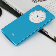 Smart Circle View Flip Cover Leather Phone Case For LG G4 H818 H815 H810 F500 VS