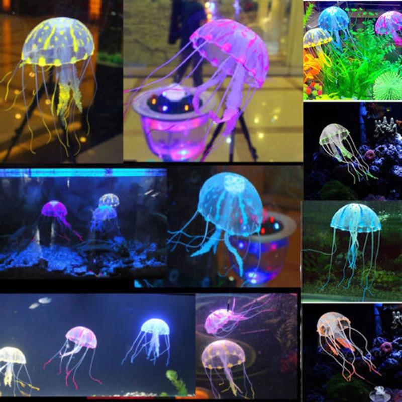 Swim Glowing Effect Artificial Jellyfish Aquarium