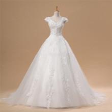 SexeMara Real Pictures White/Ivory Wedding Dresses Tulle