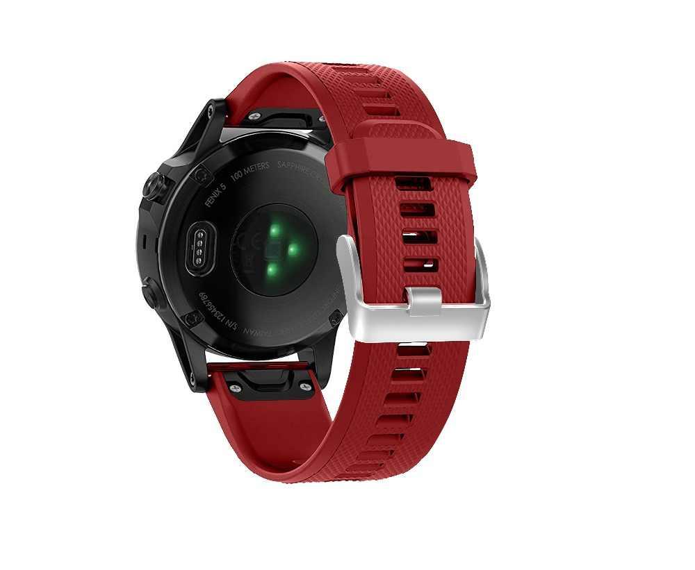 12 видов цветов мягкого силикона замена часы браслет ремешок для Garmin Fenix 5 для смарт-часы 22 мм запястье ремень