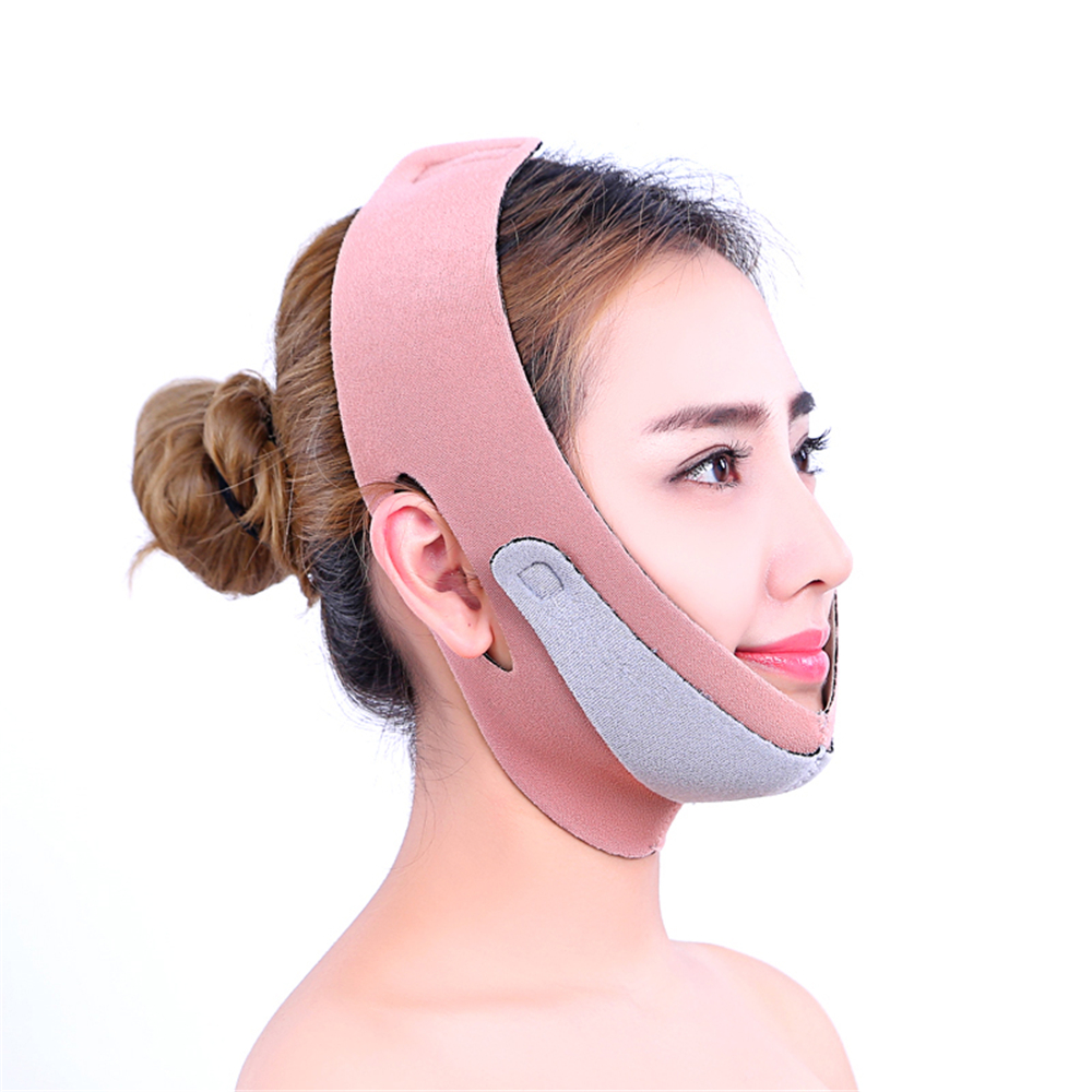 Face Massage Slimmer Bandage Face Lift up Neck Exerciser Belt Reduce Double Chin Strap Tool Beauty Facial Slimming Masks red color silicone face slim lift up belt facial slimming massage band mask personal beauty gift