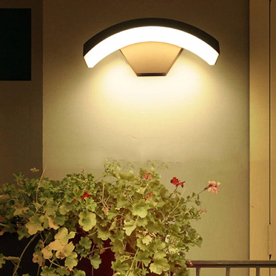 Thrisdar 12W PIR Motion Sensor Outdoor LED Wall Porch Light Courtyard Garden Aisle Corridor Villa Balcony LED Wall Light