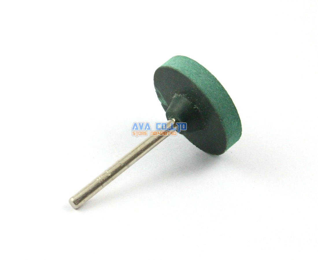 20 Pieces 25x5mm Green Mounted Rubber Polishing Point Grinding Wheel 3mm Shank