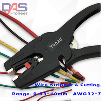 Auto ajuste de aislamiento de alambre de Stripper de 0 03 10mm2 con alta calidad pelado de cables de rango de 0 03 10mm nariz plana|insulation wire stripper|wire stripper|wire stripper range -