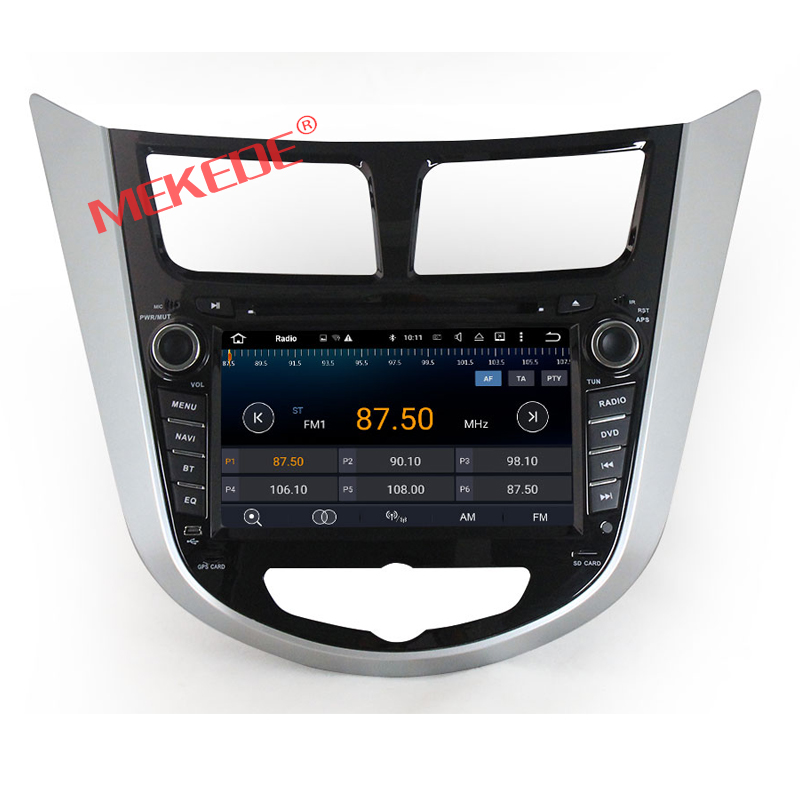 1024 600 HD screen Capacitive screen Android7 1 Car DVD gps Player For Hyundai Solaris accent