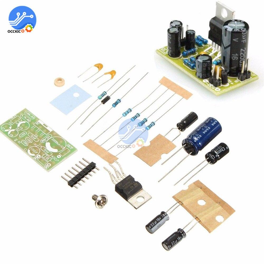 TDA2030A Amplifier Board DIY Kit 18W DC 9V-24V Hi-Fi Volume Control Speaker Sound Board Electronic Audio Power Amplifier