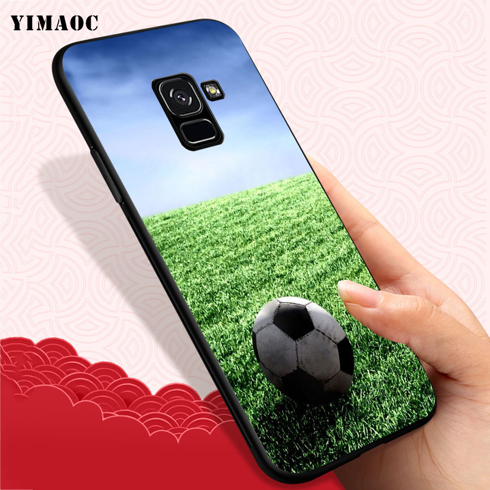 YIMAOC Football on water burning fire sports Soft Case for Samsung Galaxy A3 A5 A6 A7 A8 A9 Plus Note 8 9 A10 A30 A40 A50 A70 in Fitted Cases from Cellphones Telecommunications
