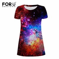 FORUDESIGNS Brand Women Sexy Dress 3D Galaxy Casual Bodybuilding Woman Dresses Clothes For Girl Ladies Maxi