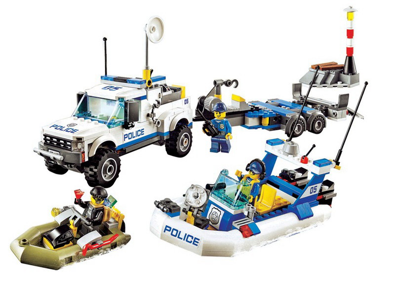 New City Bricks Police Patrol Building Blocks Action Figures DIY educational Toys compatible with lego 60045 Free Shipping sermoido building block city police 2 in 1 mobile police station 7 figures 951pcs educational bricks toy compatible with lego