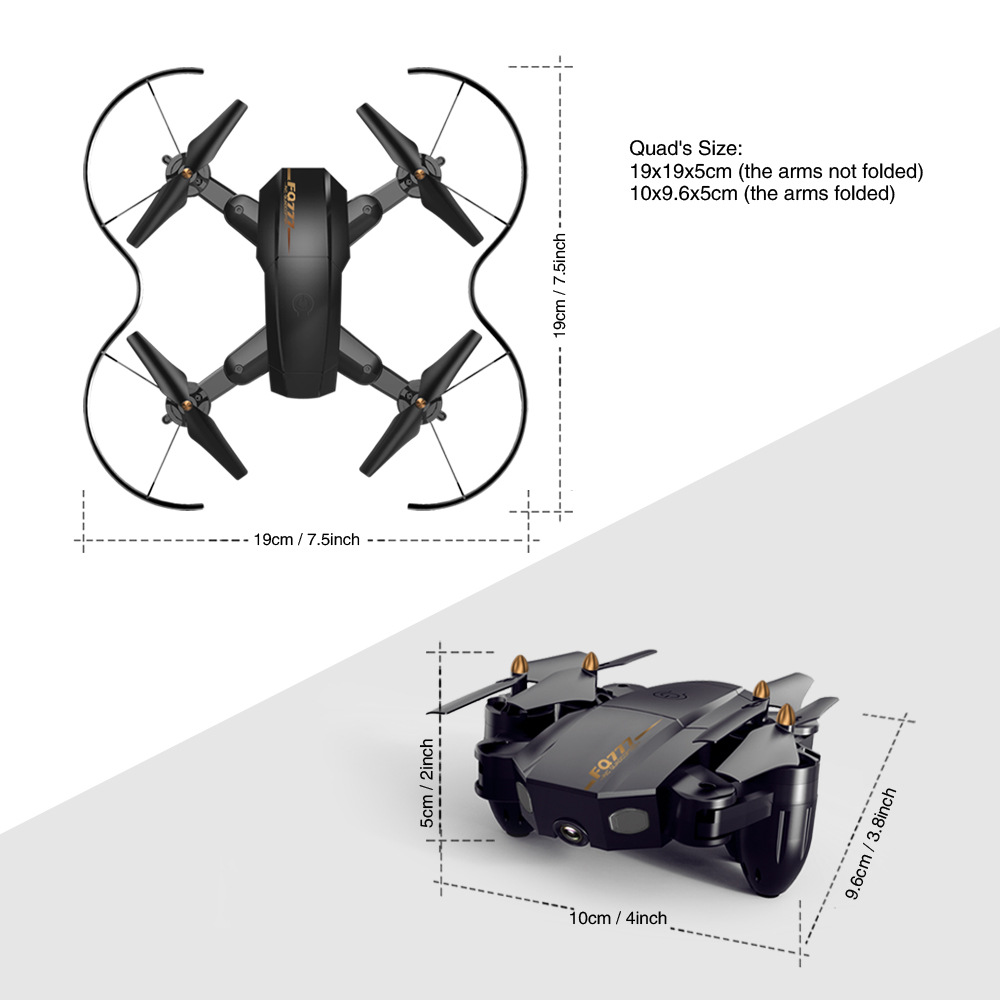 Image 5 - Folding drone Mini UAV WIFI aerial photography Fixed high Remote control Aircraft toys-in RC Helicopters from Toys & Hobbies