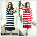 Spring Dress Plus Size Nightgowns Nightdress Female 100% Cotton Sleepwear Night Dress Indoor Clothing Nightgown XXL