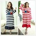 Vestido de primavera Plus Size Camisolas Camisola Feminina 100% Algodão Sleepwear Noite Vestido de Roupa Interior Camisola XXL