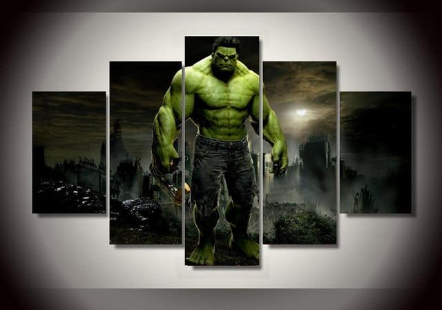 Freies Verschiffen 5 Panel Gerahmte Gedruckt Hulk Film Gruppe ...