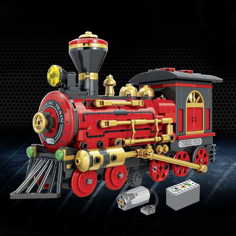Compatible City Electric Motor Magic Potter Hogwarts Express Train Toy Engine Sets Power Function Blocks Cities