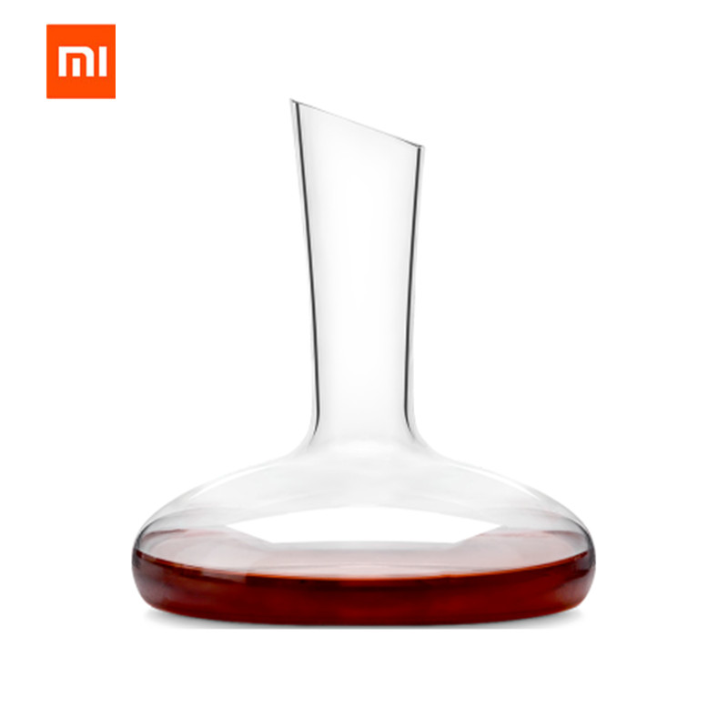 Original XIAOMI Mijia 1500ML Circle Joy Round Crystal Decanter Wine Decanter Crystal Glass Wine Pourer Wine Carafe Aerator angel wine decanter aerator set