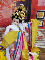 12 Handmade Collectible Chinese Princess Dolls With Exquisite Makeup Vintage Girl Dolls BJD Doll Christmas Birthday