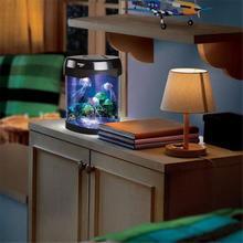 Home Decor Colorful LED Jellyfish Tank Sea World Swimming Mood Lamp Nightlight