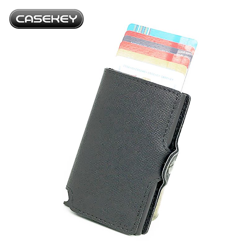 Leather Mini Wallet Security Information Double Box