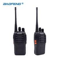 2 pcs walkie talkie baofeng BF-888S 16ch uhf 400-470 mhz baofeng 888 s ham rádio hf transceptor amador portátil