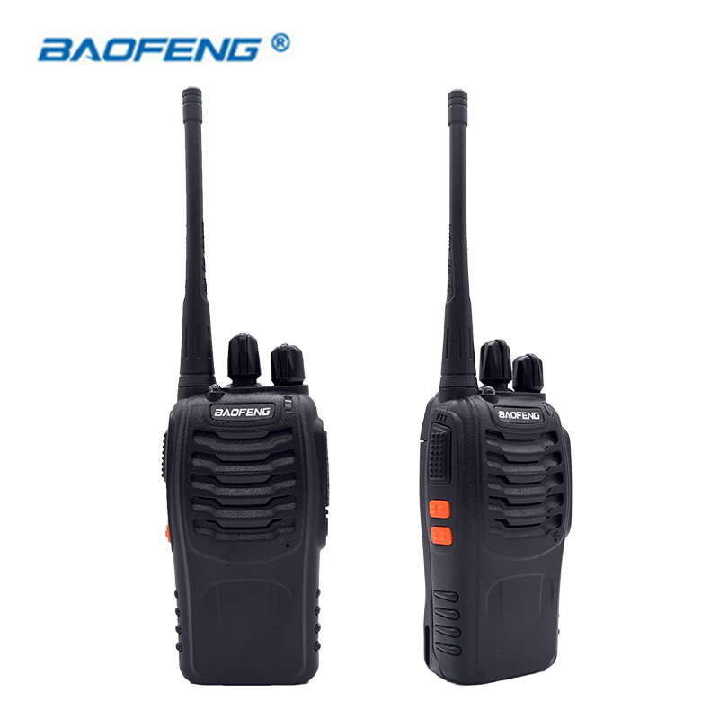 2PCS Walkie Talkie Baofeng BF-888S 16CH UHF 400-470MHz Baofeng 888S Ham Radio HF Transceiver Amador Portable