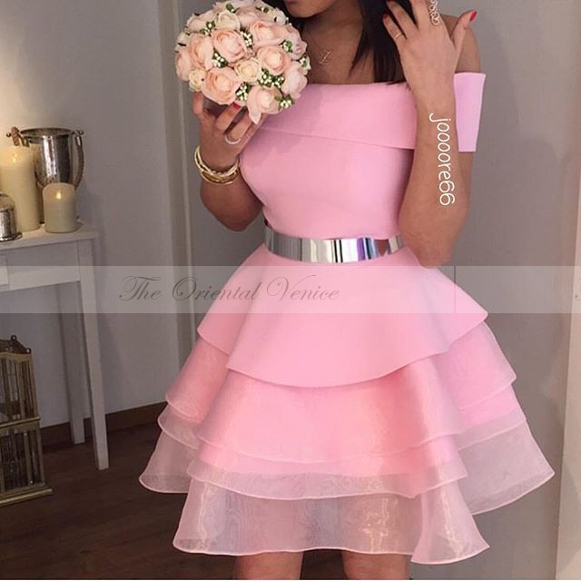 Pink dress cocktail