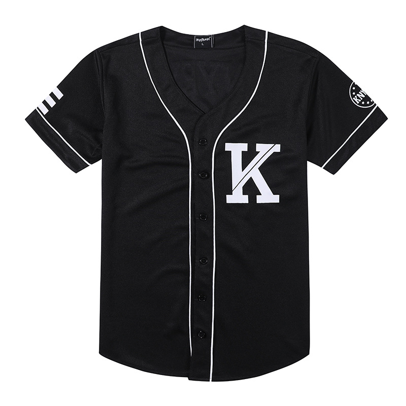 0a0614e679b ... Feedback Questions about Fashion Men Baseball Jersey Hip Hop Trend  Retro College Couple Baseball Striped Half Sleeve Shirt Black White Cotton T  shirts ...