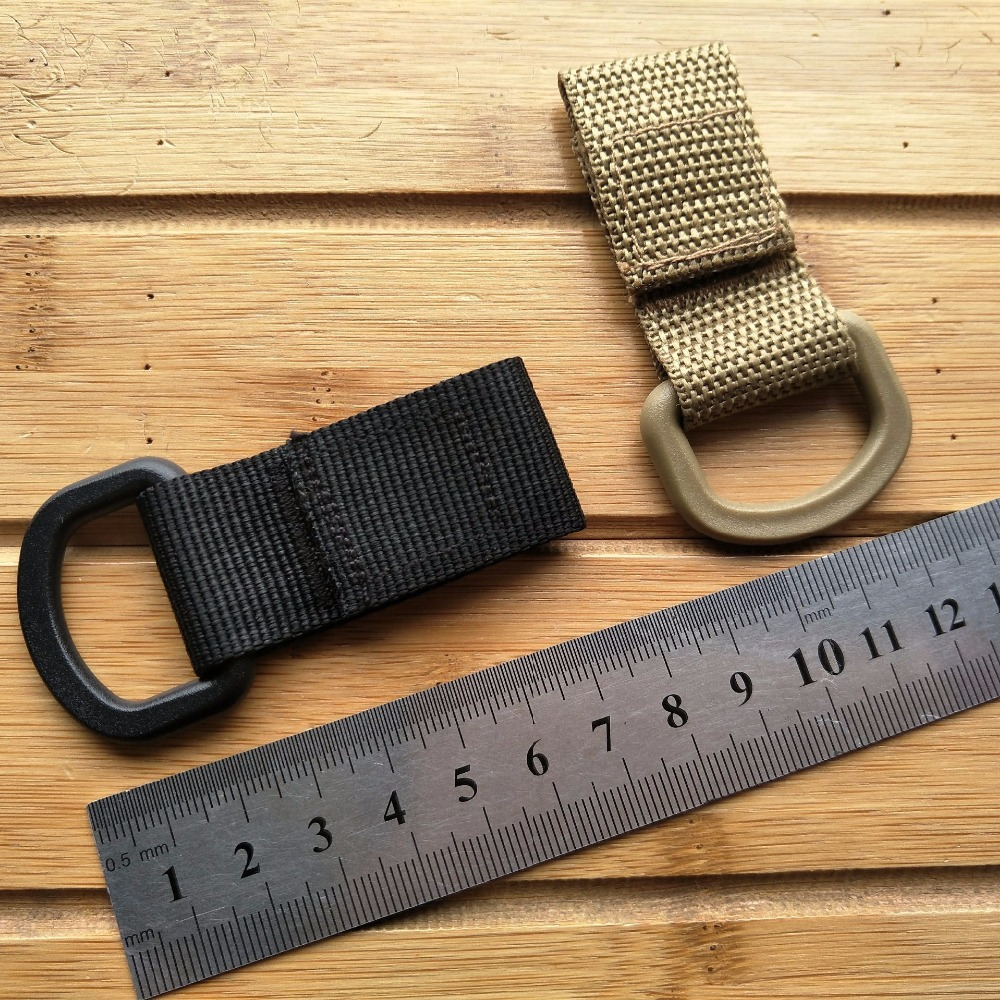 Nylon Molle Ribbon Hook Carabiner High Strength Nylon Tactical Backpack Key Hook Clip Webbing Buckle Hanging System Belt Buckle
