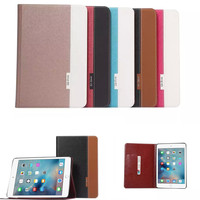 New For iPad Mini 4 Cross pattern Book Style PU Leather Smart Case Cover With Card Slots Stand For Apple mini4 Tablet Cases