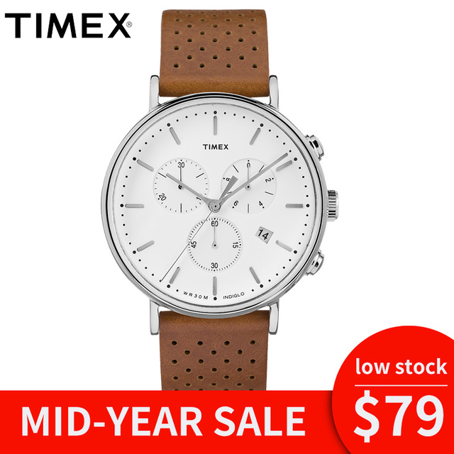 9070f57edc7f 2018 For Timex Original Unisex Watch Tw2r267 Fairfield Chronograph Quartz  Leather Multi-function Waterproof Relogio Masculino