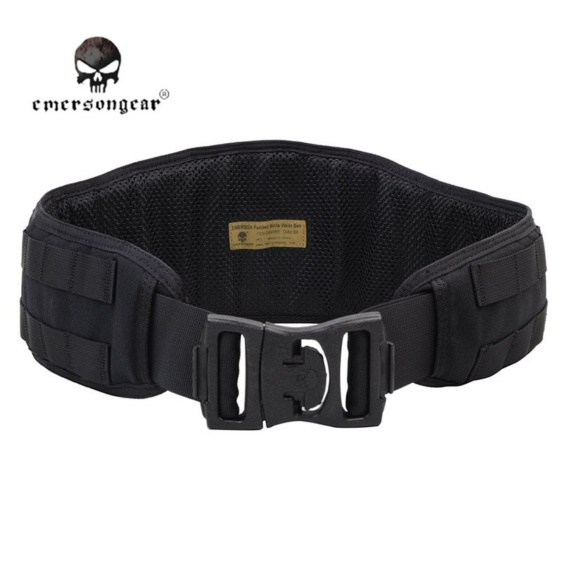 Emerson Airsoft Tactical Padded Belt 1000D Nylon Molle Waist Belt Men Military Combat Army Battle Belt Cummerbunds Padded Belt цена 2017
