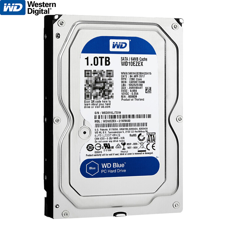 Brand New Western Digital WD Blue 1TB HDD Internal Hard Disk Drive 3.5