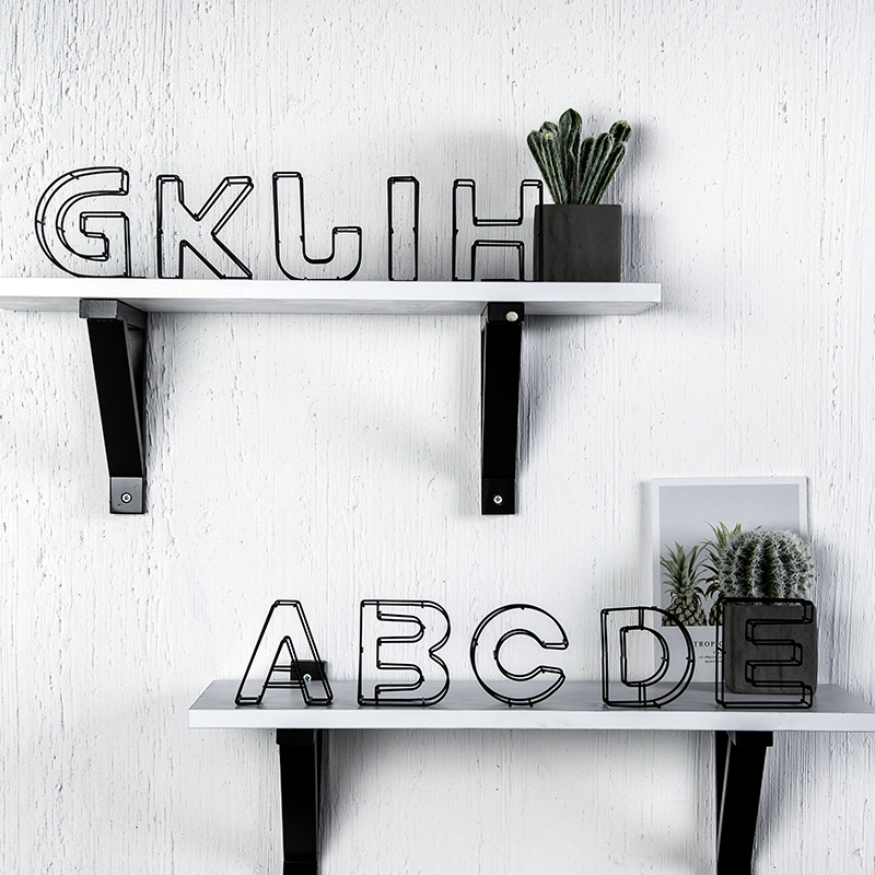 Ins Style English Letters Decor Bedroom Iron Letters Home Decoration Accessories For Living Room Desk Decorative Items