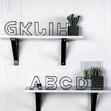 Ins стиль английские буквы Декор Спальня железные буквы украшение для дома аксессуары для гостиной стол декоративные предметы