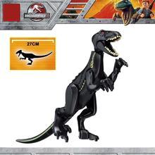Jurassic World Building Blocks Park Tyrannosaurs Action Rex Transparent Dinosaur Bricks Education Toys Children Gift L030