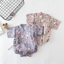 ; летняя одежда для маленьких девочек и мальчиков в цветочек японский детский халат-кимоно; комбинезоны; Повседневный Спортивный костюм; комбинезоны для новорожденных; Bebes