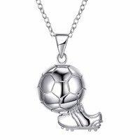 Otogo Transing Gorąca Sprzedaż 2018 World Cup soccer buty sportowe 925 sterling silver Biżuteria naszyjnik i Wisiorek dla kibica SVN253