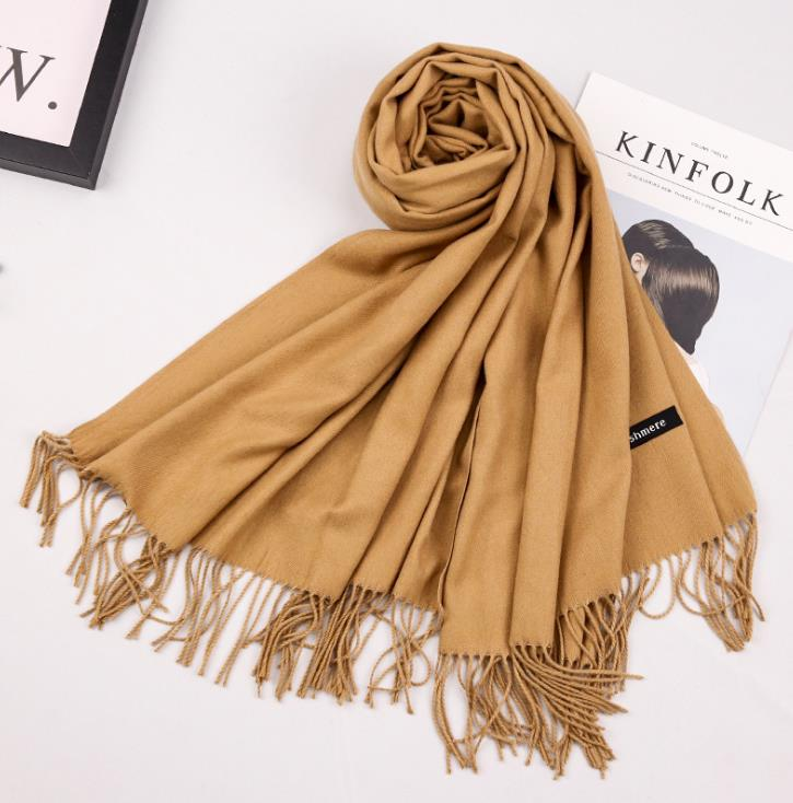 Fashion Women Scarf Winter Fall Women Scarves Large Long Wraps Shawls Thick Warm Cotton Cashmere Wool Pashmina Womens Scarf