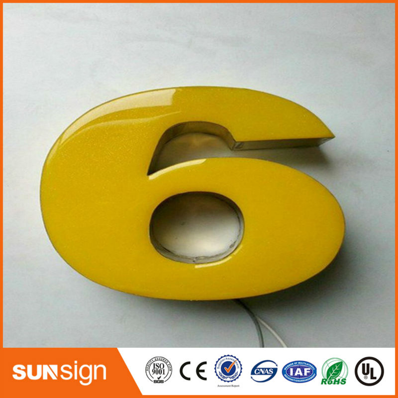 Decorative Wall Letters Resin Led frontlit Sign Letters