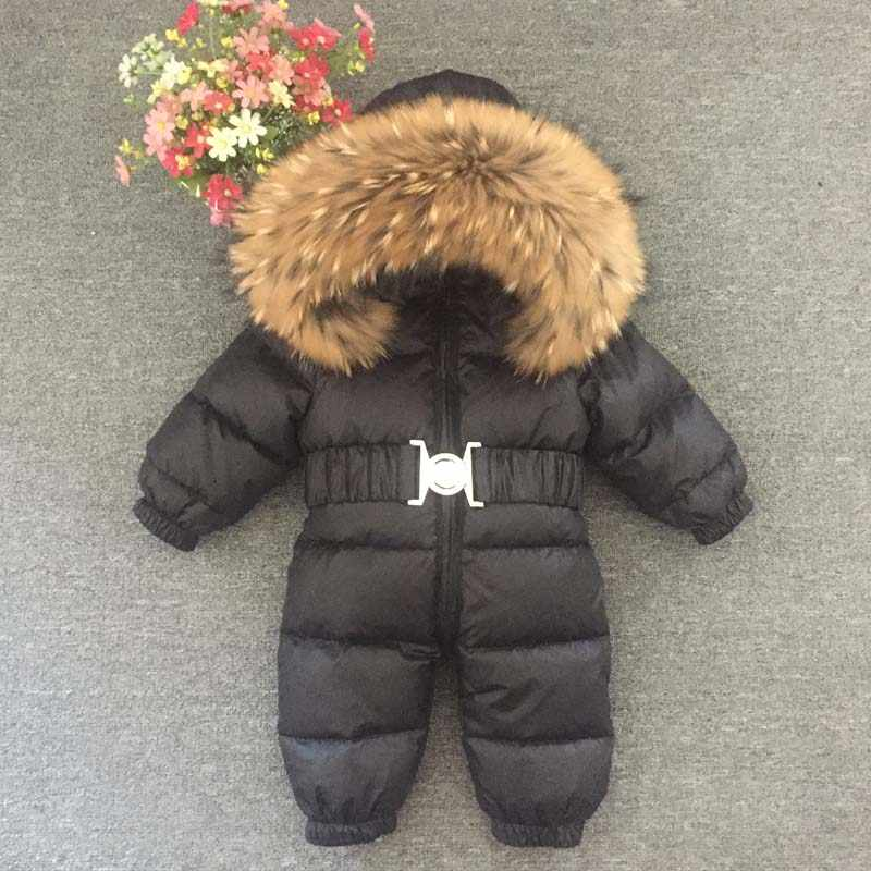 dcbe8c175a0b Detail Feedback Questions about Boys Girls Winter Overalls Baby ...