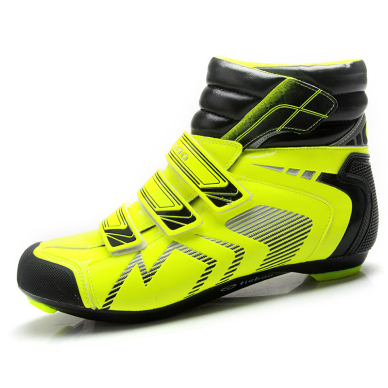 Tiebao High Ankle cycling road racing bicycle shoes breathable bike self-locking shoes ultralight Zapatillas Zapato Ciclismo sidebike mens road cycling shoes breathable road bicycle bike shoes black green 4 color self locking zapatillas ciclismo 2016