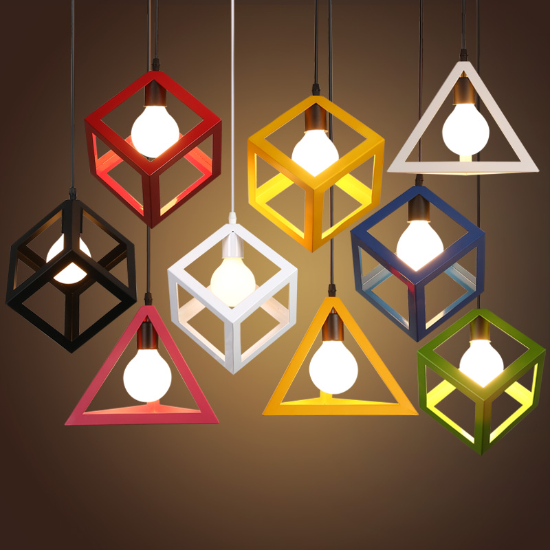 Art Deco Pendant Lights for bar home lighting Retro Loft Geometric Lamp with Metal Lampshade E27 110-220V deco home буфет