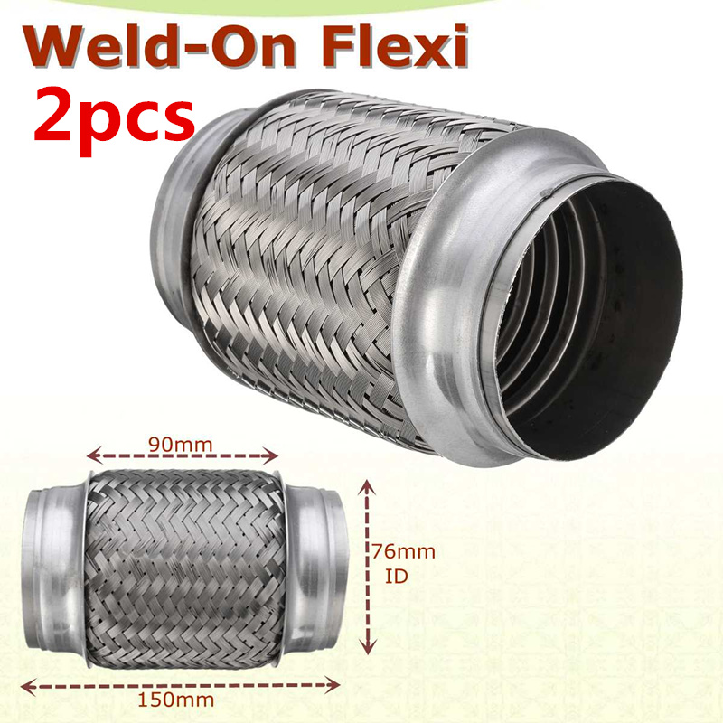"Exhaust Flexible Pipe 55mm x 150mm Flexi Repair Joint 2.25/"" x 6/"" Tube Connector"