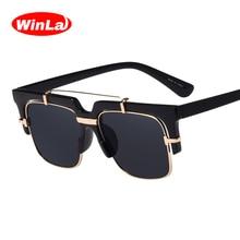 Winla High Quality 2017 Sunglasses Square Glasses for Women Classic Vintage Ladies Brand Designer Eyewears gafas de sol UV400