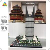 YZ 070 World Famous Architecture Kingdom Tower 3D Model DIY 4692pcs Mini Building Diamond Nano Blocks Toy for Children no Box